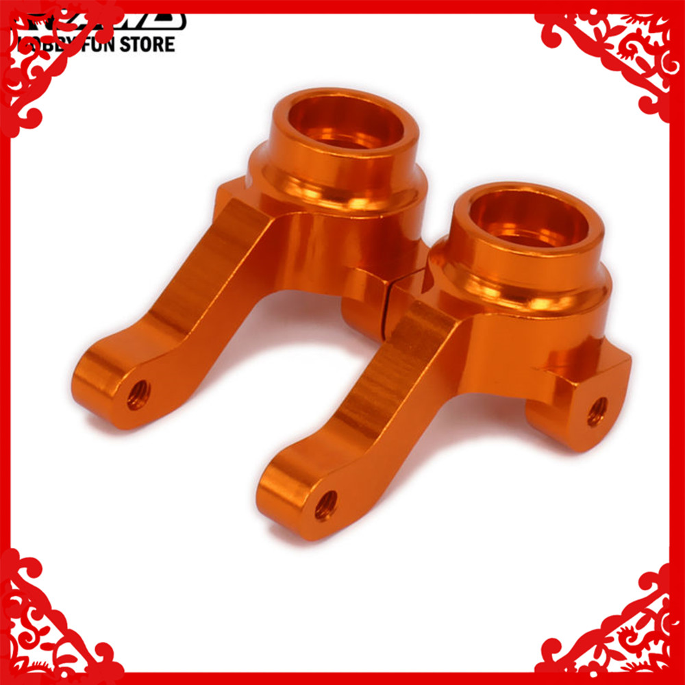 RCAWD Steering Hub Carrier Steering Blocks Upright Set Left Right For Rc Car 1/10 HPI RS4 113708 RS4001 6061-T6