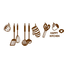 DIY Removable Wall Decal Happy Kitchen Vinyl Home Decor Stickers LB88