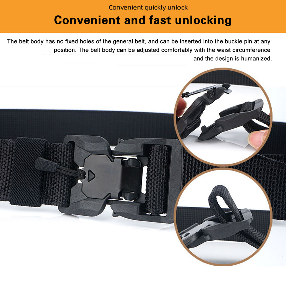 He9ab0669c03944b8a6c81af93891551aN - FDBRO Tactical Belt  Magnetic Buckle Adjustable Nylon Military Belt for Man Outdoor Hunting Training Accessories Utility Belt