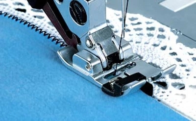 Pfaff Sewing Narrow Edge Presser Foot With IDT Stitch In The Ditch # 820609096