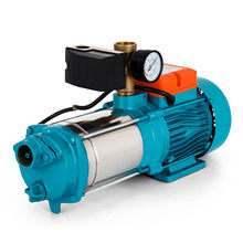 VEVOR House Water Booster Pump 1300W Stainless Steel Centrifugal Pump 5100 L/h Self-priming 5.1 Bar With Pressure Gauge