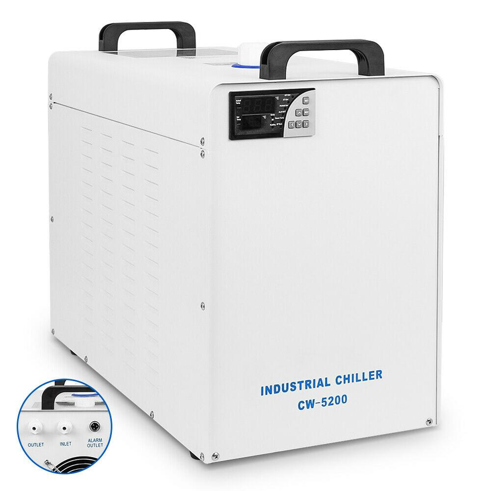 110V/220V CW-5200 Industrial Water Chiller Cooler For CO2 Laser Engraving Cutting Machine 9L Tank EU US Stock