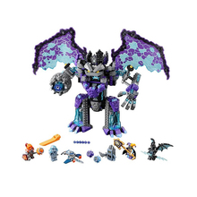 Building blocks 10705 Compatible lepining nexo knights Brick the stone colossus of ultimate destruction toys for children lepin nexo knights axl jestros volcano lair combination marvel building blocks kits toys minifigures compatible nexu