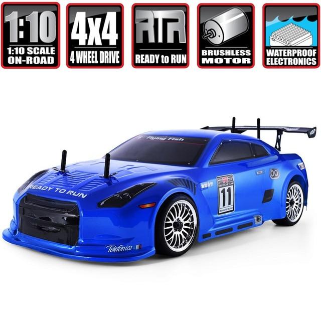 Гоночный автомобиль HSP Rc Drift 1:10 4wd 94123PRO FlyingFish электрический бесщеточный Lipo высокоскоростной хобби автомобиль с дистанционным управлением