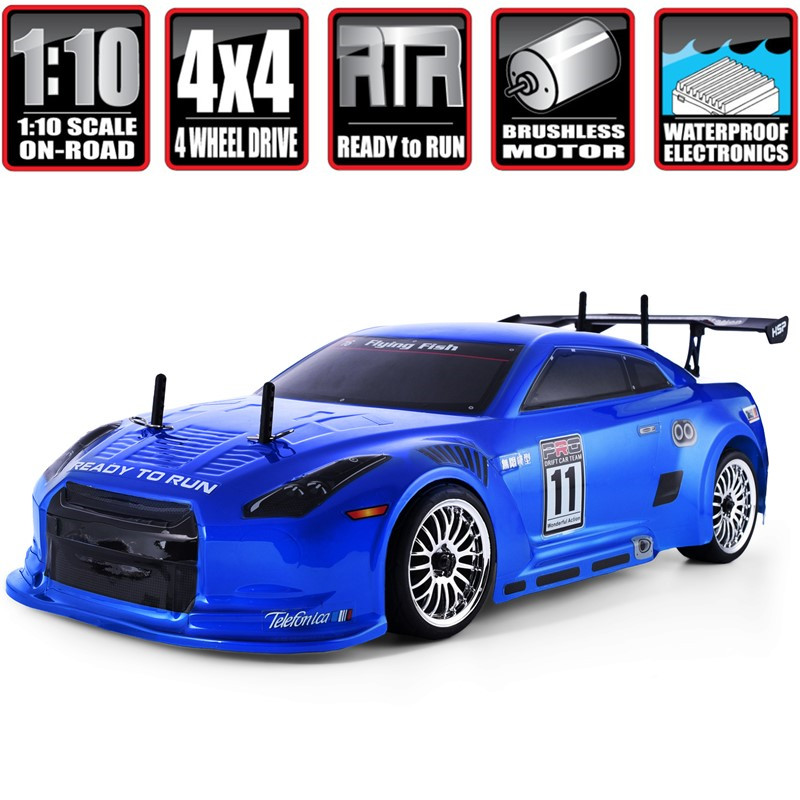 HSP Rc Drift Car 1:10 4wd On Road Racing 94123PRO FlyingFish Electric Power Brushless Lipo High Speed Hobby Remote Control Car