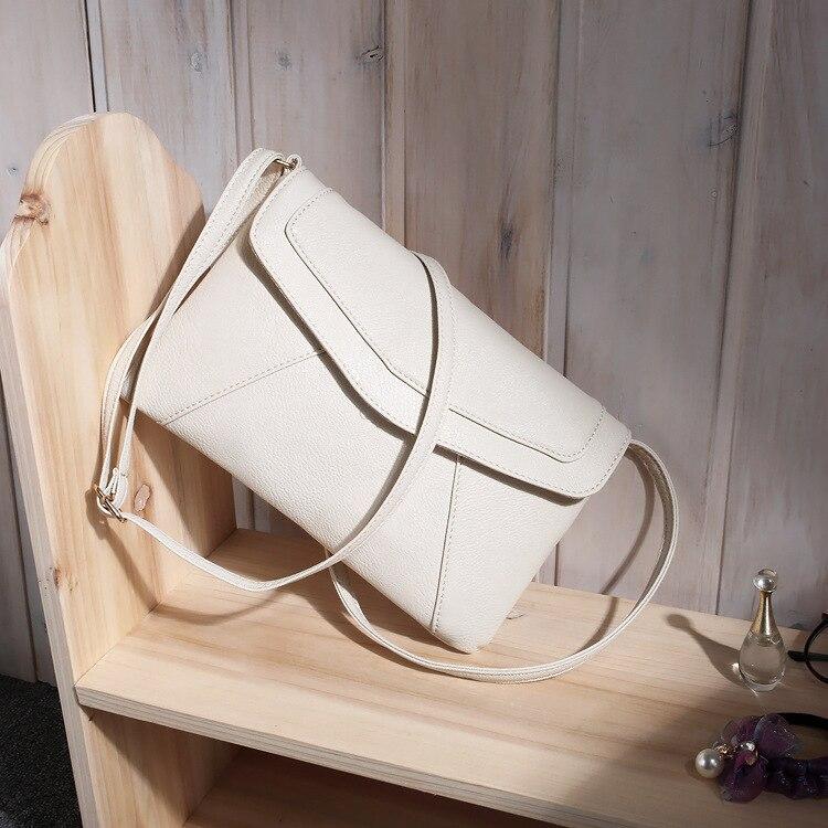 Маленькие сумки для женщин сумки-мессенджеры кожаные женские Newarrive милые сумки через плечо винтажные кожаные сумки Bolsa Feminina - Цвет: Beige