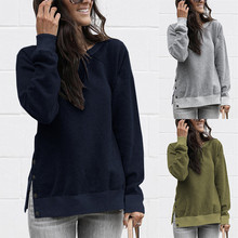Lace Up Sweat Femme Hoodie Women Streetwear Tops Long Sleeve Button Sweatshirt and Pullover Casual Solid O-Neck Kawaii Hoodies все цены