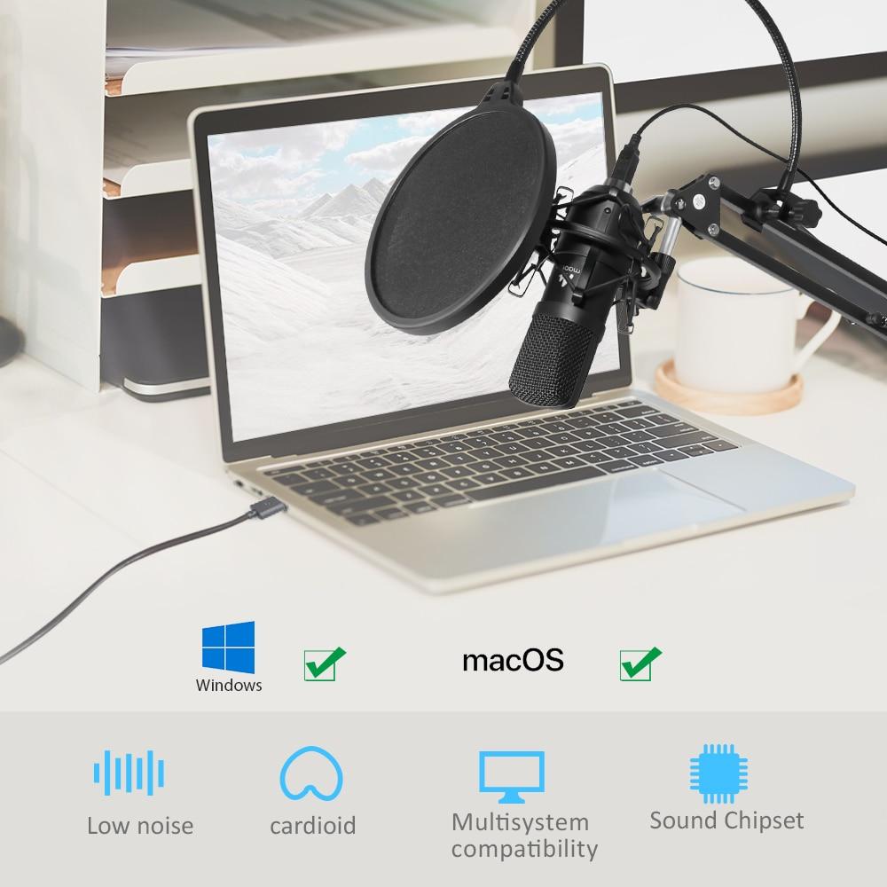 MAONO AU-A04 USB Microphone Combo Setup 4