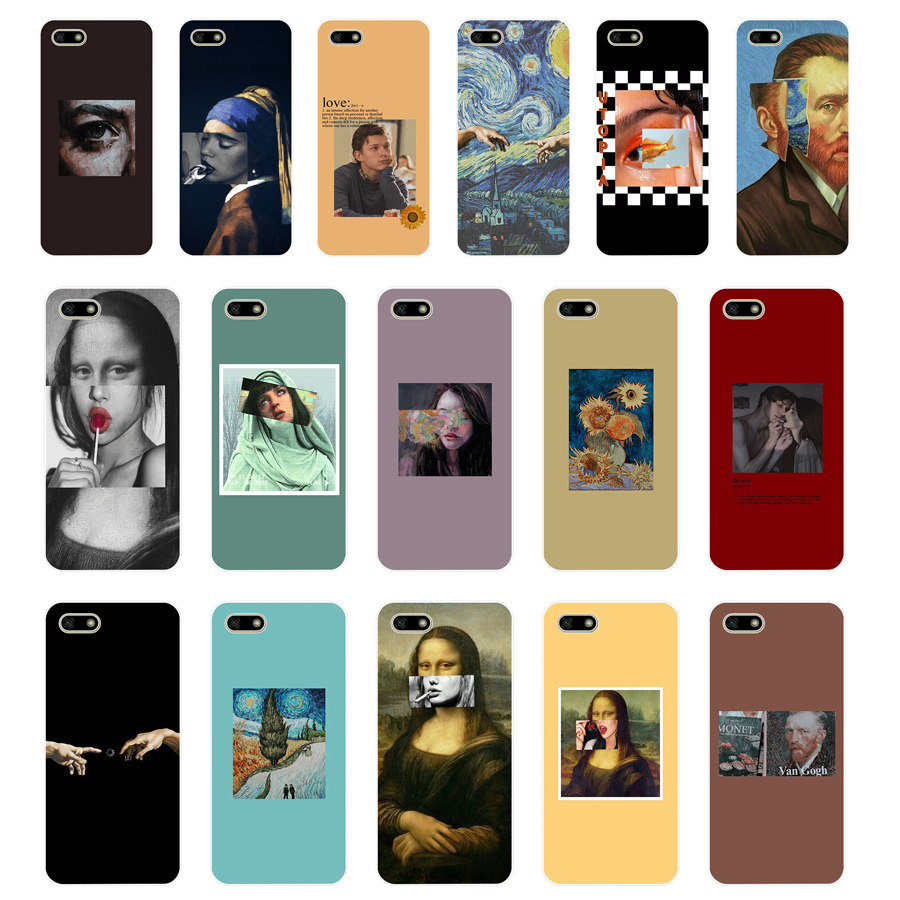 332FG Great Art Aesthetic Van Gogh Mona Lisa Soft Silicone Tpu Cover Case For Huawei Honor 7a 5.45 Pro 5.7 7c 7x Y5 2018 Case