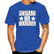 Mermaid in TrainWomens Ladies Fitted T-Shirt New T Shirts Funny Tops Tee New Unisex Funny High Quality Casual Printing