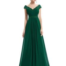 Party-Gowns Evening-Dresses A-Line Wedding Chiffon Elegant Long Plus-Size Sleeveless