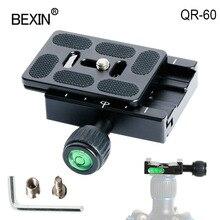 QR60カメラクイックreleasクランプ三脚クランプデジタル一眼レフカメラクランプマウントカメラ用アルカスイスカメラクイックショットプレート