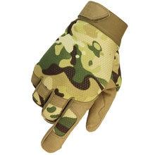 Multicam luvas táticas ao ar livre do exército militar da bicicleta airsoft caminhadas escalada tiro paintball camo esporte luva dedo cheio