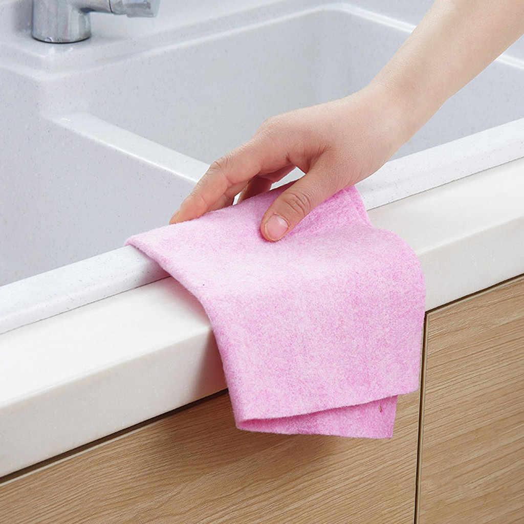 Toalla de lavado paño de limpieza Super absorbente paño de cocina vajilla Toalla de limpieza del hogar herramientas de cocina Gadgets cozzha