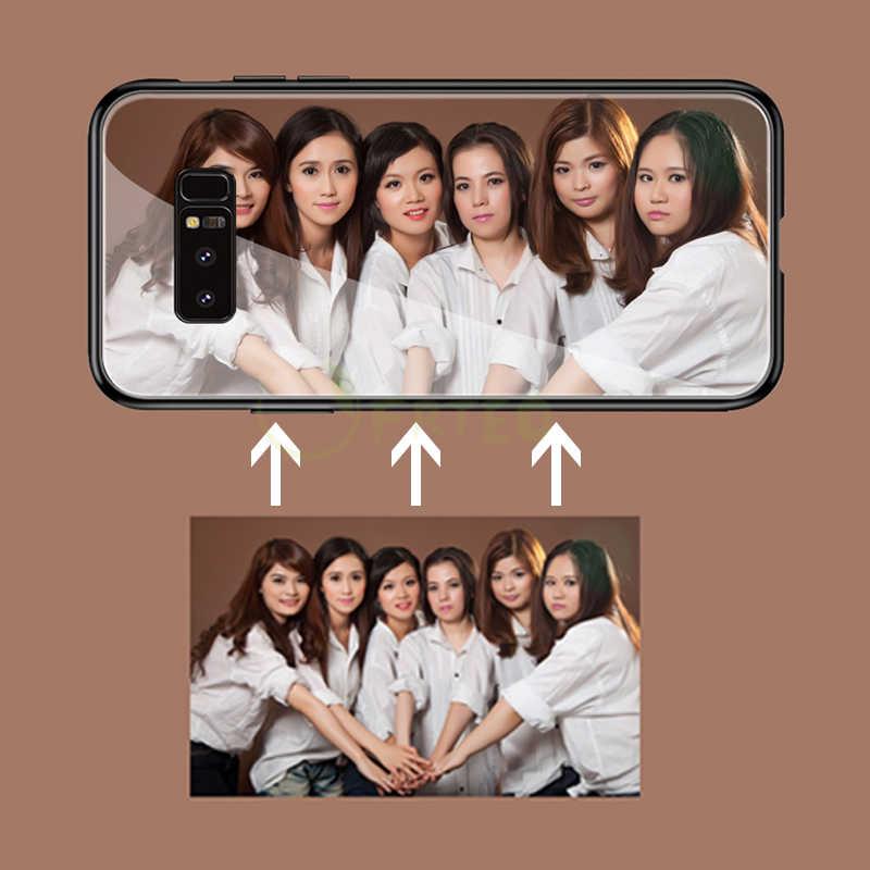 Pribadi DIY Disesuaikan Case untuk Samsung Galaxy S10 10E 10 + 9 8 Catatan 10 10Pro 9 8 A7 A8 a9, a5 A3 2017 J7 Cetak Foto Cover