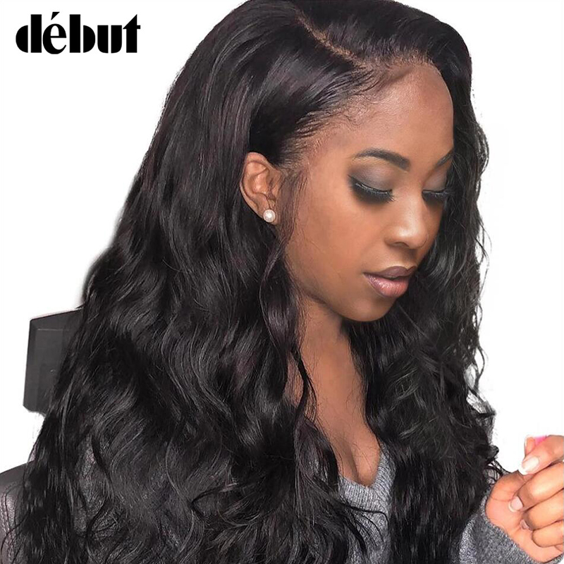 Debut Natural Color13X4 Lace Frontal Human Hair Wigs For Women Body Wave Curly Hair Wigs Remy Brazilian Women's Lace Hair Wigs