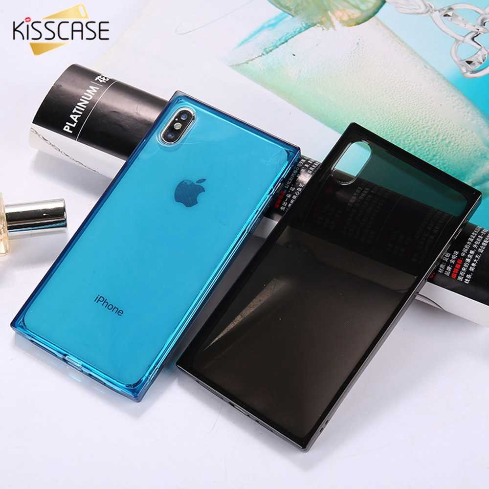KISSCASE עבור עבור iPhone 6 6S iPhone 7 8 בתוספת כיכר TPU מקרים עבור iPhone X XS Max XR TPU מקרי טלפון עבור iPhone 5S 5 SE Fundas