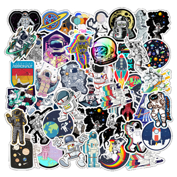 10/30/50Pcs Outer Space Astronaut Stickers For Travel Suitcase Skateboard Scrapbook Bullet Journal Graffiti Sticker Kids DIY Toy - discount item  50% OFF Classic Toys