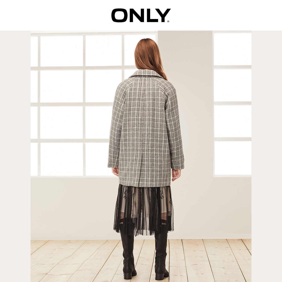 Только 2019 Осень Зима Женское свободное плотное шерстяное пальто | 11934S524