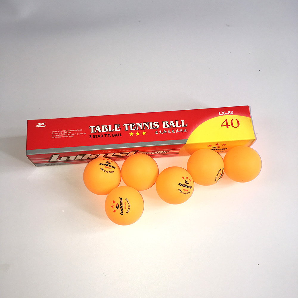 Nouveau 6 pièces/paquet 1 2 3 étoiles niveau 40mm 2.7g balles de Tennis de Table blanc Orange balle de ping-pong Amateur formation avancée