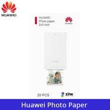 Original huawei papel foto zink 2*3 polegada para huawei mini bolso portátil impressora de fotos cv80 diy papel impressão fotográfica