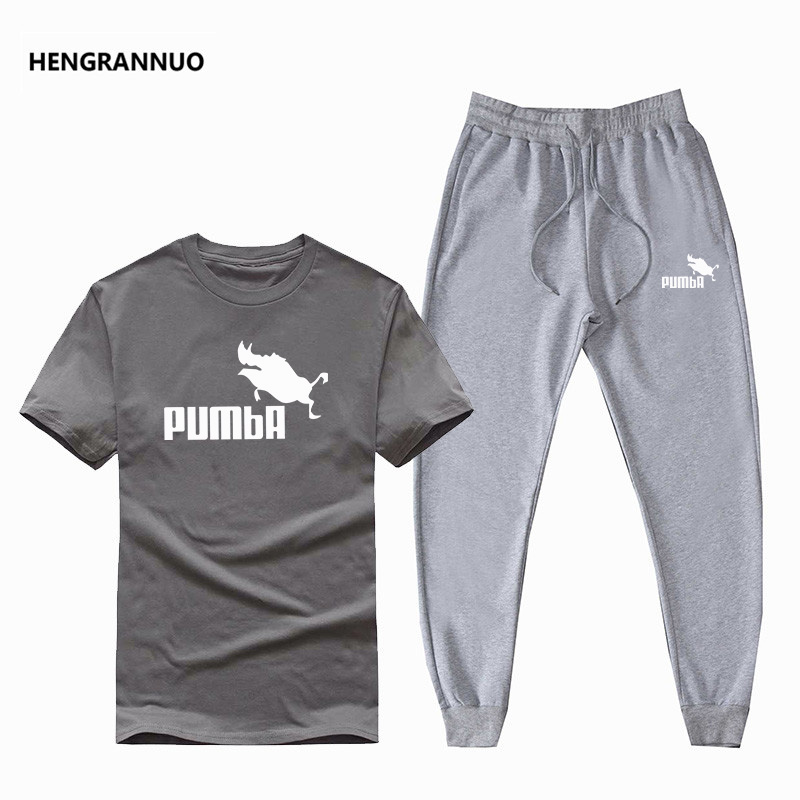 Hot Sale Men's Suit T-shirt + Pants Two-piece Casual Sportswear Basketball New Fashion Printing Suit Sportswear Fitness Shirt