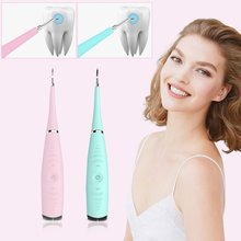 Electric Sonic Dental Scaler Tooth Calculus Remover Tooth Stains Tartar Tool Dentist Whiten Teeth Whitening Health Hygiene white