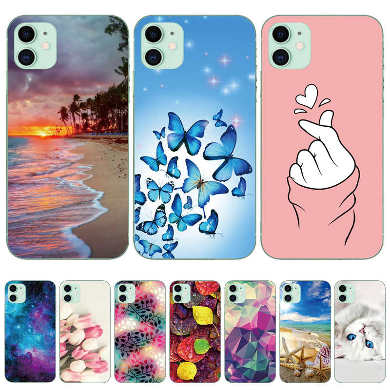 Telefoon Case Voor Iphone 11 Pro X Xr Max 8 7 6 6S Plus Zachte Siliconen Tpu Ultra Dunne leuke Painted Back Cover Voor Iphone 5S Se 2020
