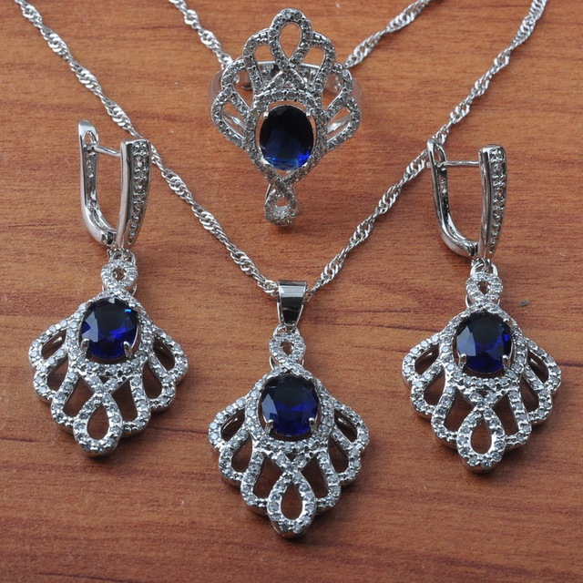 Bridal jewelry 925 Silver Sets For Women