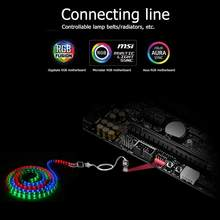 60Cm PC Case Fan LED Strip Kabel Ekstensi 4Pin RGB Konektor Kabel untuk Giga/Microstar/Asus/Papan Utama sinkron Lampu Kontrol(China)