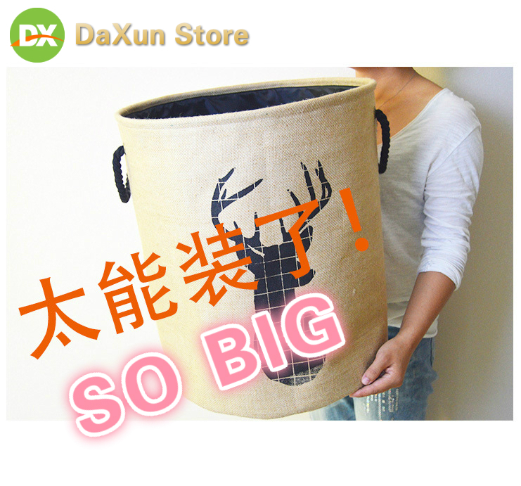 Dirty Clothes Basket 2019 Hot Sell Folding Hamper Large Waterproof Dirty Clothes Storage Basket Toy Storage Bucket Wall Basket in Storage Baskets from Home Garden