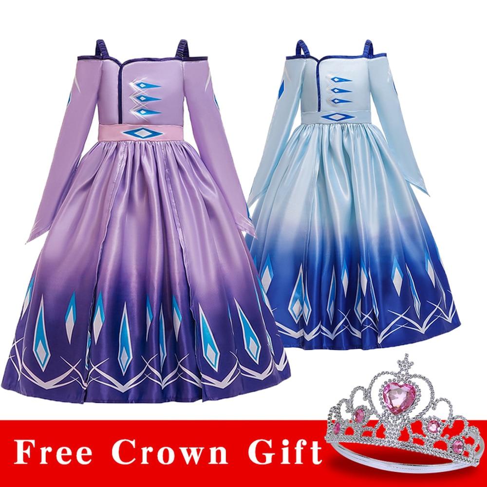 54 41 De Descuentoaisha Vestido Para Niñas Ropa Frozen 2 Navidad Cosplay Hielo Nieve Elsa Cumpleaños Carnaval Fiesta Princesa Correa Vestidos 3 11