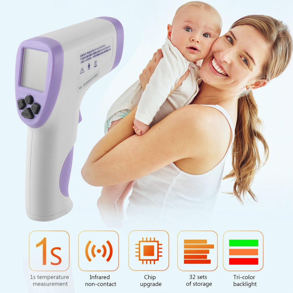 HT-820D Handheld Infrared Thermometer High Precision Portable Thermometer Non-Contact Body Infrared Thermometer