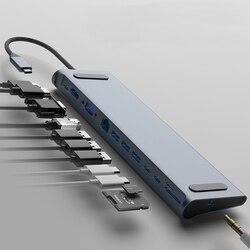 Bakeey 12 в 1 USB Type-C концентратор к HDMI RJ45 Мульти USB 3,0 адаптер питания для MacBook-Pro док-станция для ноутбука