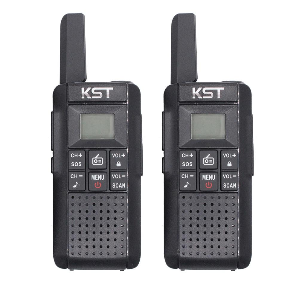 Радиостанция PMR446 KST V2 с перезаряжаемой литий-ионной батареей, большой диапазон действия, сертификация CE, частные коды CTCSS DCS