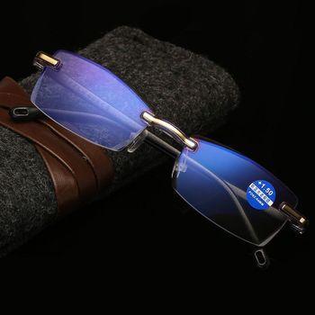 Blokujące niebieskie światło bez oprawek do czytania okulary kobiety mężczyźni Unisex okulary do czytania z dioptriami 0 + 1 0 1 5 2 0 2 5 3 0 3 5 + 4 0 tanie i dobre opinie seemfly MIRROR przezroczyste Z poliwęglanu CN (pochodzenie) Z tworzywa sztucznego Anti Blue Light Reading Glasses 3 5cm