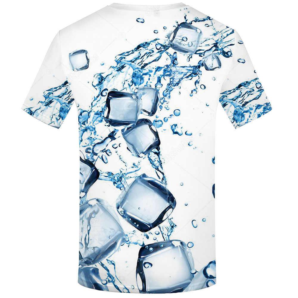KYKU Wasser T-shirt Männer Psychedelic T-shirts 3d Blau Tshirt Gedruckt Gothic T-shirts Casual Harajuku Shirt Druck Herren Kleidung