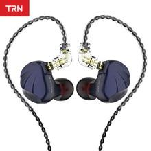 Trn vx 6ba 1dd unidade híbrida no ouvido fone de ouvido iem alta fidelidade dj monitor metal correndo esporte fone de ouvido earplug trn v90 ba5 x6 zsx