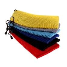 Портативная сетчатая клетчатая сумка для хранения солнцезащитных очков салфетка для очков Чехол для очков D18 20 Прямая поставка
