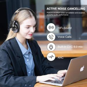 Image 5 - OneOdio Super Deep Bass Bluetooth V5.0 Wireless Headphones Active Noise Cancelling Bluetooth Earphones with Fast Charging A10