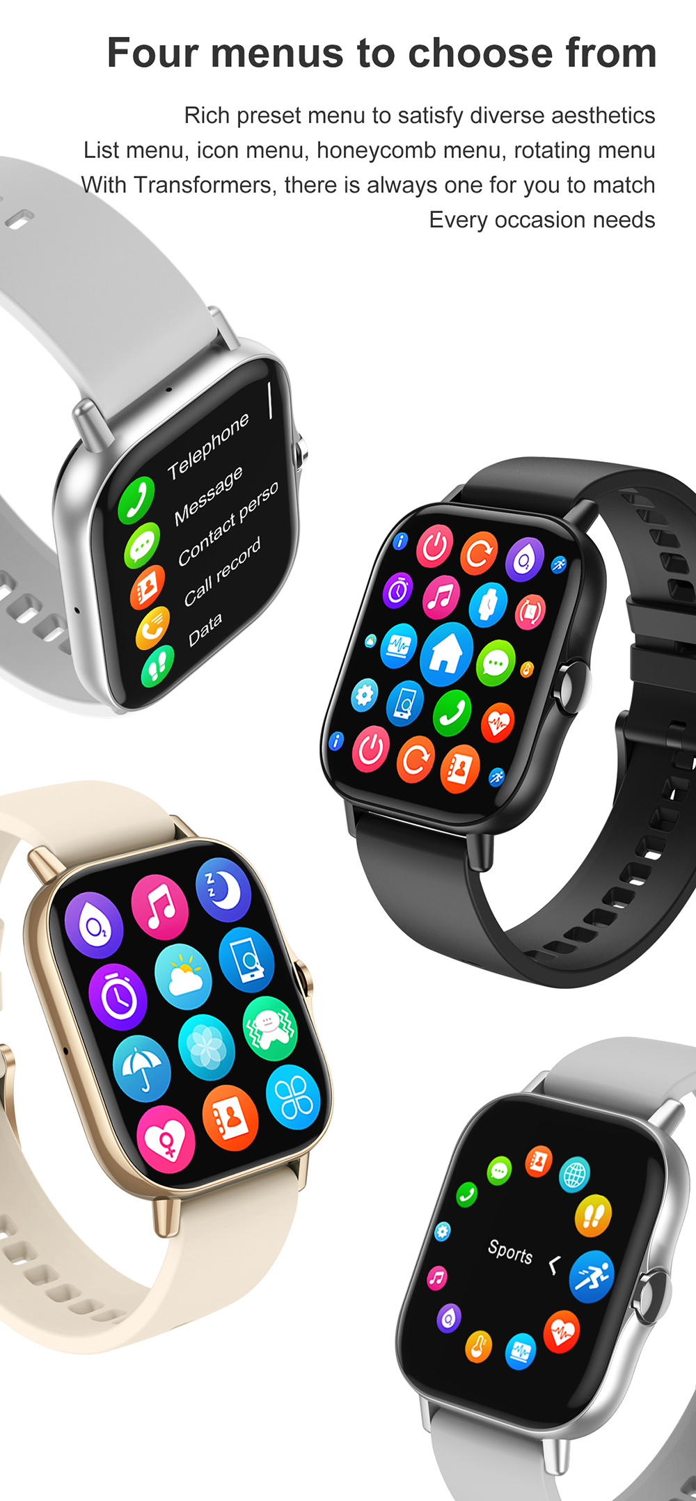 He9ad9d3d557f4e13b5f9c1b1d92c3a98Q For Xiaomi IOS Apple Phone 1.78inch Smart Watch Android Men IP68 Waterproof Full Touch Woman Smartwatch Women 2021 Answer Call