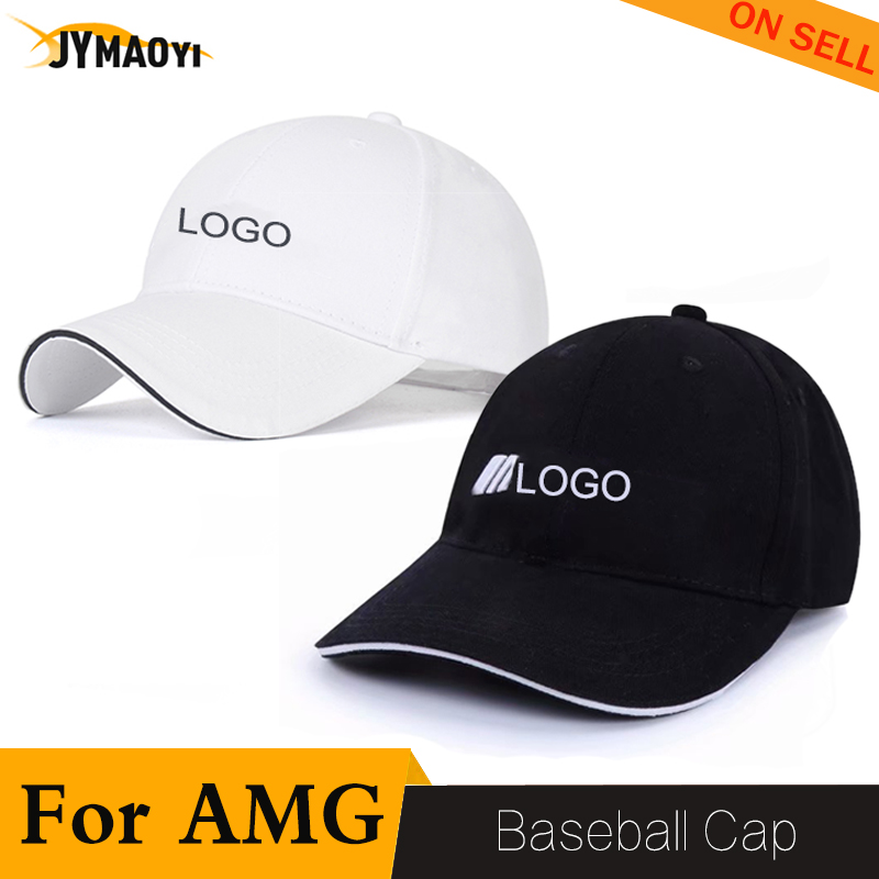 For Mercedes Baseball Hat Cap Men Hip Hot Sports Sun Hat Peaked Cap For AMG Logo Black White Adjustable Casual Summer 2020 New