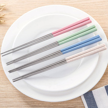 304 Stainless steel Wheat straw chopsticks Home Kitchen Dining Tools Eating noodles Tableware A13