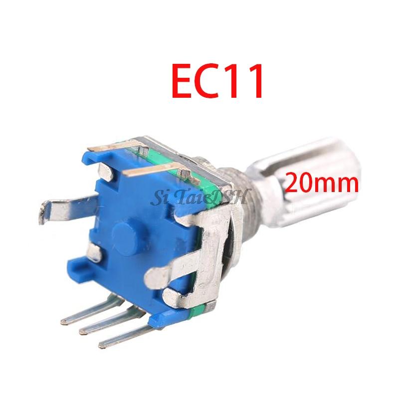 1 pièces prune poignée 20mm codeur rotatif commutateur de codage/EC11/potentiomètre numérique avec interrupteur 5 broches