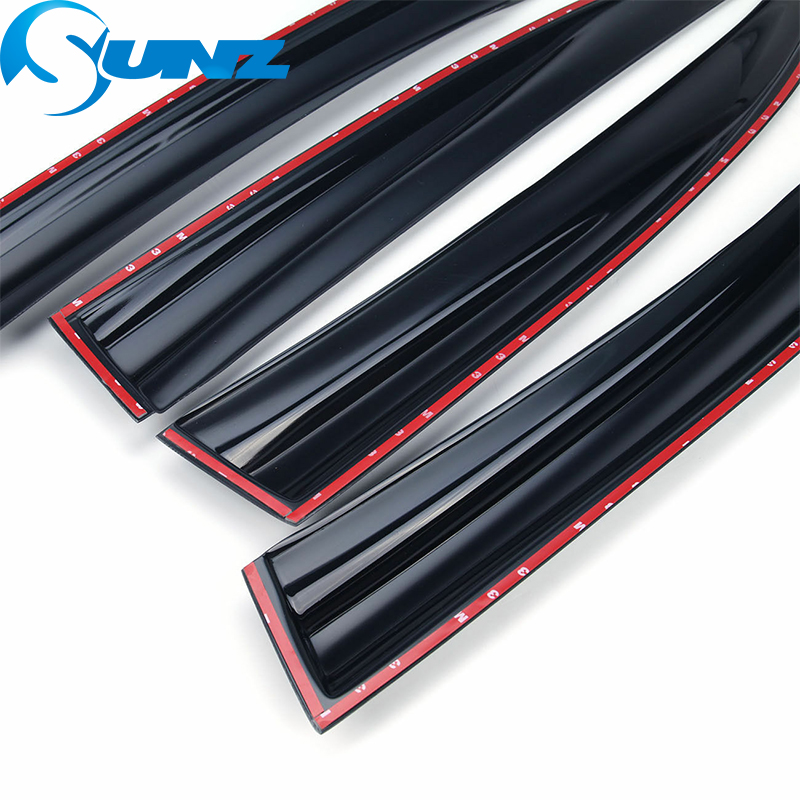 Image 4 - Side Window Deflector For HONDA CIVIC 2006 2007 2008 2009 2010 2011 sedan Window Visor Vent Shades Sun Rain Deflector Guard SUNZ-in Awnings & Shelters from Automobiles & Motorcycles