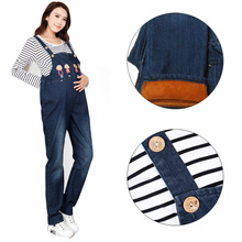 Denim Maternity Bib Overall Pants Jeans for Pregnant Women Clothes Pregnancy Jumpsuits Suspenders Trousers Uniforms Jeans Pants women jeans distressed jeans striped overall denim overall