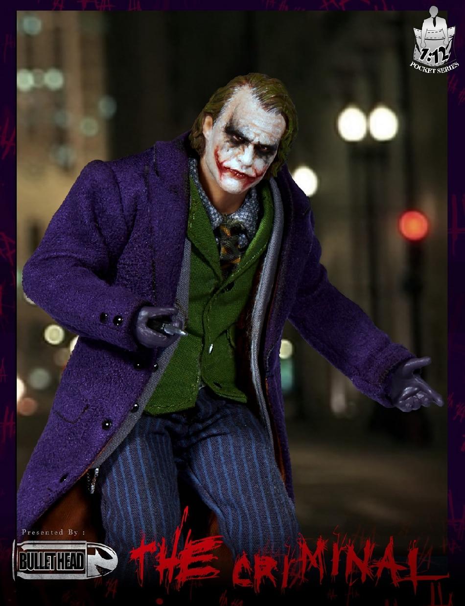009 The Mental Male Joker 6/'/' Clown Model Figure Toy 1//12 Bullet Head BH008