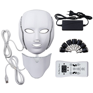 Image 5 - LED Facial Mask Photon Therapy Skin Care Mask with Neck 7 Colors Light Mask Wrinkle Acne Removal Face Beauty Tool