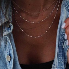 Choker Aesthetic Girls Necklace Multilayer Chain Women Yellow Gold Color Bohemia Necklaces Jewelry Lovers Collares xpayxpay choker trendy necklace chain women yellow gold color bohemia stainless steel necklaces jewelry lovers collares