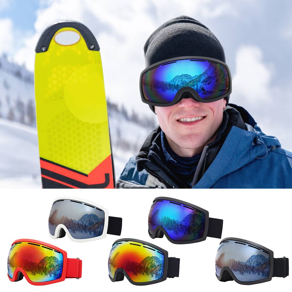 Snowboard Goggles UV400 Protection Skiing Snowboarding Goggles With Anti Fog Anti-snowblindness For Men Women Winter Sports